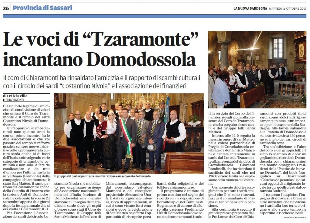 Coro de Tzaramonte a Domodossola - settembre 2012